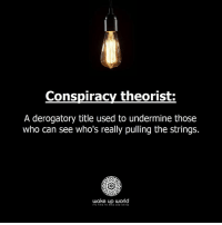 http://wakeup-world.com: Conspiracy theorist  A derogatory title used to undermine those  who can see who's really pulling the strings.  wake up world  TS TINE TO RISE AND SHINE http://wakeup-world.com