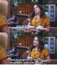 Memes, 2 Broke Girls, and 🤖: CONSULTING PRODUCER  JHONTMARCHINKO  Twitter is stupid.  And Instagram is Twitter  for people who can't read. 2 Broke Girls