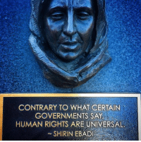 Memes, 🤖, and Human: CONTRARY TO WHAT CERTAIN  GOVERNMENTS SAY,  HUMAN RIGHTS ARE UNIVERSAL.  SHIRIN EBADI