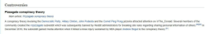 Andrew Bogut, Community, and Hillary Clinton: Controversies  Pizzagate conspiracy theory  Main article: Pizzagate conspiracy theor  A conspiracy theory involving the Democratic Party, Hillary Clinton, John Podesta and the Comet Ping Pong pizzeria attracted attention on /r/The_Donald. Several members of the  community created the Iripizzagate subreddit which was subsequently banned by Reddit administrators for breaking site rules regarding sharing personal information of others. n  December 2016, the subreddit gained media attention when it linked a knee injury sustained by NBA player Andrew Bogut to the conspiracy theory.91  391190] Reading The Donald wiki page. WTF?