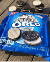 It's called recursion: COOKIES &CREME  EHLARGED  O SHOW  DETAIL  2 COOKIES  139  90  SATFAT SUGARS  NETWT  ORIES  D CHOCOLATE SANDWICH COOKIES 10.7 07 (303  APPEARS WHEN OPENED It's called recursion