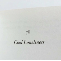 Cool and Loneliness: Cool Loneliness