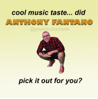 Dank, Meme, and Music: cool music taste... did  @veastsubstitute  pick it out for you? hey Anthony Fantano of The Needle Drop, please share my meme