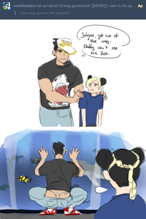 theleftnippleofarcher:  (in my defense: i noticed the flashing before i could give any of the kids an unwanted sexual awakening): coolchulainn hat auf deinen Eintrag geantwortet: [[MORE]l i went to the aq...  Aa  Ijotaro kujo goes to the aquarium   ou ne  the was  cont see  the fish. theleftnippleofarcher:  (in my defense: i noticed the flashing before i could give any of the kids an unwanted sexual awakening)