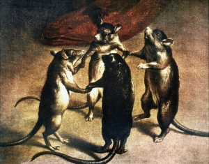 Girls, Tumblr, and Blog: coolfriendlyguy:  actuary-tattoo:  deathandmysticism: Plague, Dance of the Rats, 17th century  Me n the girls   new yorkers having fun