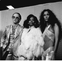 coolkidsofhistory:Elton John, Diana Ross and Cher at the Rock Music Awards, 1975: coolkidsofhistory:Elton John, Diana Ross and Cher at the Rock Music Awards, 1975