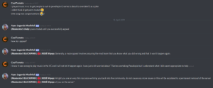 """Community, Music, and Mute: CoolTomato  i played music in vc to get people to sub to pewdiepie (t series is about to overtake!!) as a joke  i didnt think id get perm muted  (the song was congratulations)  Yesterday at 19:57  15 April 2019  Apex Legends ModMail oday at 02:15  (Moderator) chelp: youre muted until you successfully appeal  CoolTomato  how do i appeal?  Today at 10:21  Apex Legends ModMail  (Moderator) BL เว1РИК  y at 11:46  ROSE #kpop: Generally, a mute appeal involves assuring the mod team that you know what you did wrong and that it wont happen again.  CoolTomato  I know it was wrong to play music in the VC and I will not let it happen again. I was just a bit worried about T Series overtaking Pewdiepie but I understand what I did wasnt appropriate to help  Today at 11:47  (edited)  Apex Legends ModMail  (Moderator BL ว PI  (Moderator) BLA КРИкі  y at 11:50  ROSÉ #kpop: A right you are on very thin ice once we bring you back into the community, do not cause any more issues or this will be escalated to a permanent removal of the server  ROSE #kpop: of you on the server"""" Well, I tried"""