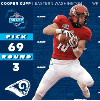 Memes, Dick, and 🤖: COOPER KUPP  I EASTERN WASHINGT  ON  DRAFT  2017  Sky  DICK  RAMMS  69  WR The @RamsNFL select @EWUAthletics WR @CooperKupp with the 69th overall pick!  #NFLDraft https://t.co/LuvxuB9lfT