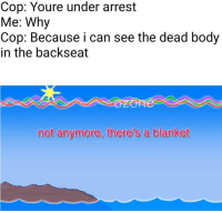 "<p>The sun is a deadly lazer (by Dippahns ) via /r/dank_meme <a href=""http://ift.tt/2qOlOlk"">http://ift.tt/2qOlOlk</a></p>: Cop: Youre under arrest  Me: Why  Cop: Because i can see the dead body  in the backseat  not anymore, there's a blanket <p>The sun is a deadly lazer (by Dippahns ) via /r/dank_meme <a href=""http://ift.tt/2qOlOlk"">http://ift.tt/2qOlOlk</a></p>"