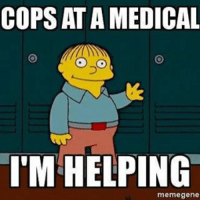 Meme, Memes, and 🤖: COPS AT AMEDICAL  I'M HELPING  gene Disclaimer: It's a joke-meme please don't get offended.