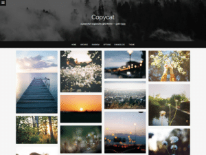 adorablethemes: Copycat Theme Responsive layout - choose max # of columns Customizable colors and fonts Upload your own header and background images Two-column permalink page Optional infinite scrolling Dashboard-style reblog comments Install | Preview | Options | More themes : Copycat  apowedul responsive grid theme-getRh  RANDOM OPTIONS adorablethemes: Copycat Theme Responsive layout - choose max # of columns Customizable colors and fonts Upload your own header and background images Two-column permalink page Optional infinite scrolling Dashboard-style reblog comments Install | Preview | Options | More themes