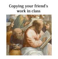 Cats, Friends, and Work: Copying your friend's  work in class Copy cats everywhere