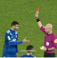 Memes, The Ref, and 🤖: CORI DESIGNZ St Etienne clash with Lyon.. The guy shook the ref's hand😂 via @rldesignz