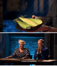 Applause: corn.   (0  [ Cheers and applause ]
