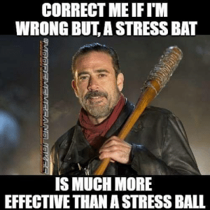 Memes, Prison, and Time: CORRECT MEIFI'M  WRONG BUT, A STRESS BAT  IS MUCH MORE  EFFECTIVE THAN A STRESS BALL works great... but you might do some prison time