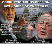 Butt, Facebook, and Fbi: CORRUPTION RUNS DEEP ON  BOTH SIDES OF THE AISLE!  Don Young(AK)  On Most Corrupt Politician list  in 2007 2008, 2009, 2010, 2012.  In 2007 and again in 2013  investigated by FBI for Corruption  2014 reprimanded by House  Ethics Committee for personal  use of campaign funds &  accepting gifts.  Alcee Hastings(FL)  One of only a handful of Judges  to ever be impeached by Congress!  Found GUILTY of:  Conspiracy to accept bribe  Term Limits  Multiple counts of perjury  Falsifying evidence  US Congress  81 Years old  78 Years old  In Congress 42 Years  In Congress 22 Years Sign our petition here! We CAN impose term limits without Congress' approval! 🎯🎯http://termlimitsforuscongress.com/e-petition.html 🎯🎯  IT'S NOT A PARTY THING!  IT'S A CORRUPTION THING! A recent Gallup Poll showed that 72% of Americans believe that the Federal Government is a greater threat to our nation's future than Big Business or Big Labor.  The only surprise is that the other 28% haven't caught on yet.  Corporations, Special Interest Groups, and Unions are ALWAYS going to try to influence Congress and as a 1st Amendment Right, that will never change.  But, the problem is that Corrupt, Career Politicians are selling us off to the highest bidder with absolutely zero regard for the interests of the Average American!  It's all about corruption, power, and money!  The BIG QUESTION is how much longer can our nation survive if the Average American sits on his/her butt and continues to let it happen.  Luckily, our forefathers had the foresight to see the potential for aristocracy, oligarchy, and corruption, having fought against it for our freedom.  They left an option in the Constitution in case Congress got out of control that lets the states bypass Congress and add an Amendment to the Constitution without Congress's approval.  It's time to use it and create a Term Limits Amendment for Congress!  With it we can destroy every long term relationship with lobbyists and guarantee a 