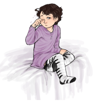 Target, Tumblr, and Blog: cosmiq:Been wanting to draw this ever since I bought myself a pair of these socks. So yes. Sleepy baby Rod. 3