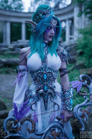 Amazing Tyrande Whisperwind from World of Warcraft cosplay: COSPLay Amazing Tyrande Whisperwind from World of Warcraft cosplay