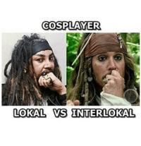 Indonesian (Language) and  Cosplayer: COSPLAYER  LOKAL VS INTERLOKAL