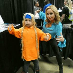 The Boondocks, Boondocks, and Cosplay: [cosplayer] vi0letteverse [cosplay] Cindy McPherson from the boondocks with the amazing tara strong who voiced cindy McPherson. at awesomecon 2019