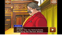 <p>This kind of thing is what localization gets us.</p>: Cou  rt Record  options  Grossberg  Unnngh...  It feels like my hemorrhoids  are doing the Harlem Shake <p>This kind of thing is what localization gets us.</p>