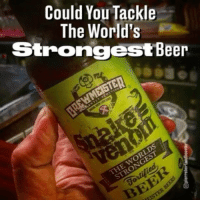 Beer, Memes, and Happy: Could You Tackle  The World's  Strongest Beer  MEISTER  V  THE Happy National Beer Day...could you handle this? 🍻