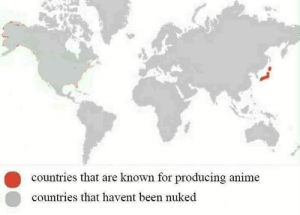 Straight facts via /r/memes https://ift.tt/2RuM4O5: countries that are known for producing anime  countries that havent been nuked Straight facts via /r/memes https://ift.tt/2RuM4O5