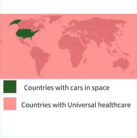 Cars, Instagram, and Meme: Countries with cars in space  Countries with Universal healthcare @pubity was voted 'best meme account on Instagram' 😂