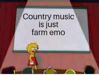 Emo, Music, and Country Music: Country music  is just  farm emo Meirl