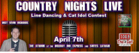 Memes, 🤖, and Media: COUNTRY NIGHTS LIVE  Line Dancing & Cat Idol Contest  Big  Crunch  Media  HOST KEVIN RICHARDS  100.9  April 7th  al for New  THE ATRIUM AT THE HOLIDAY INN EXPRESS AND SUITES LATHAM Country Nights Live returns April 7th and we are giving away a pair of Kane Brown tix with MEET & GREET!! Plus some Drake White tix.     Line dancing and Cat Idol Contest hosted by Kevin Richards & 100.9 The Cat. You can also enter to win a trip to the CMA Country Music Association Awards in NASHVILLE!* If you are a singer and want to enter the contest-- send in your info here: http://www.bigcrunchmedia.com/country.html  The fun starts at 7pm on April 7th in the Atrium Room at the Holiday Inn Express Hotel & Suites Latham. Hours of entertainment for only $7  *No purchase necessary to enter
