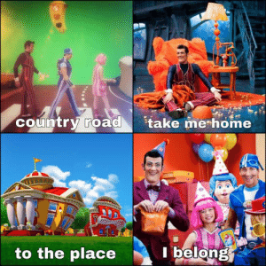 me_irl: country road  take me home  to the place  belong me_irl