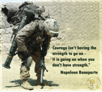 """Memes, 🤖, and Napoleon: Courage isn't having the  strength to go on  it is going on when you  don't have strength.""""  Napoleon Bonaparte Never give up."""