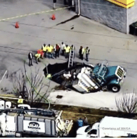 Repost via @foxnews - MUST-SEE: Sinkhole swallows 55,000-pound tractor-trailer in Georgia. The Badger Hydrovac truck was carrying 1,600 gallons of water, which along with the truck's fuel was pumped out to make it lighter to remove. No injuries were reported. 😱🚚 WSHH: Courtesy AGA Repost via @foxnews - MUST-SEE: Sinkhole swallows 55,000-pound tractor-trailer in Georgia. The Badger Hydrovac truck was carrying 1,600 gallons of water, which along with the truck's fuel was pumped out to make it lighter to remove. No injuries were reported. 😱🚚 WSHH