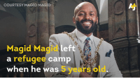 Lord Mayor Magid Magid says he's banning Trump from visiting Sheffield, UK. Meet the 28-year-old British-Somali mayor:: COURTESY MAGID MAGID  Magid Magidleft  a refugee camp  when he was 5 years old Lord Mayor Magid Magid says he's banning Trump from visiting Sheffield, UK. Meet the 28-year-old British-Somali mayor: