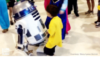 A little boy is thrilled to boogie with some movie stars - R2-D2 and Princess Anna. The dance was part of the Operation Dreamlift, a magical day for more than a hundred kids. Police officers, firefighters, first responders and lots of movie characters join the kids for fun and games in NJ. Then, they get on a plane and fly down to the Magic Kingdom for the day. The Mercer County Chapter of @thesunshinefoundation has been organizing the event for 30 years.: Courtesy: Stacy Lynne Herrick A little boy is thrilled to boogie with some movie stars - R2-D2 and Princess Anna. The dance was part of the Operation Dreamlift, a magical day for more than a hundred kids. Police officers, firefighters, first responders and lots of movie characters join the kids for fun and games in NJ. Then, they get on a plane and fly down to the Magic Kingdom for the day. The Mercer County Chapter of @thesunshinefoundation has been organizing the event for 30 years.