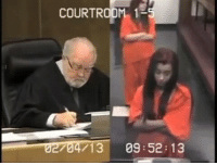 Dumb, Jail, and Memes: COURTROOM 1  704713 09 52: 13 throwback to when this dumb girl went from almost walking free to doing 30 days in jail...for saying 'Adios' and flipping off the judge😩😩...(Watch full video now at pmwhiphop.com) watch her APOLOGY ON HER NEXT COURT DATE