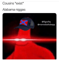 Funny, Alabama, and Good: Cousins *exist*  Alabama niggas:  @lilgoofey  @memesballsdeepp Good Ole sister loving