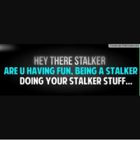 CM: Covers FirstCovers com  HEY THERE STALKER  ARE U HAVING FUN, BEING A STALKER  DOING YOUR STALKER STUFF. CM
