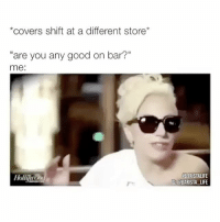 """Barista, Bar, and Hollies: *covers shift at a different store  """"are you any good on bar?""""  me:  Holli  HBARISTALIFE  IG BARISTA LIFE showstopping 🤷♀️ BaristaLife ConfidenceIsKey"""