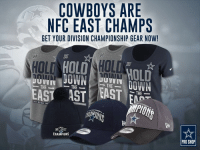 Dallas Cowboys, Memes, and Dallas Cowboys: COWBOYS ARE  NFC EAST CHAMPS  GET YOUR DIVISION CHAMPIONSHIP GEAR NOW!  ILO HOLDAHILI  HOLD  DOWN  UUVVI  THE  THE  THE  THE  PRO SHOP Our Dallas Cowboys hold down the NFC East.  Let the rest of the world know with Division Champion apparel: http://bit.ly/2iZ3Uba