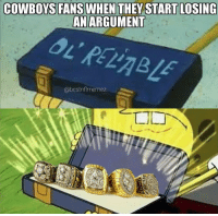 You know it's true https://t.co/wT97zngzI5: COWBOYS FANS WHEN THEY START LOSING  AN ARGUMENT  @bestnflmemez You know it's true https://t.co/wT97zngzI5