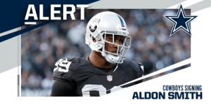Cowboys to sign Aldon Smith on one-year, $4M deal. (via @RapSheet) https://t.co/mA2iFYzzir: Cowboys to sign Aldon Smith on one-year, $4M deal. (via @RapSheet) https://t.co/mA2iFYzzir