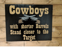 Dallas Cowboys: Cowboys  with shorter Barrels  Stand closer to the  Target