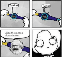me irl: Twist  Seize the means  of production  Turn me irl