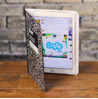 Dank, Ipad, and Notebook: Crafty Upcycle your notebooks into a creative iPad case! Perfect Christmas Gift