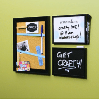 Dank, Live, and Wednesday: CRARY  remember:  crafty LIVE!  Arn  Wednesdays  GET  CRAETyl Keep organized with these DIY message boards!