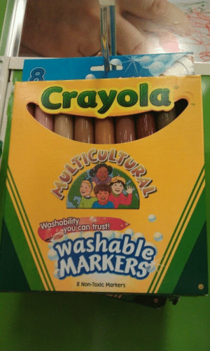 Dude, Tumblr, and Blog: Crayola  TM  TUR  Washability  yοu can  trust!  washable  MARKERS  8 Non-Toxic Markers ruinedchildhood:   ONLY JUST NOW DUDE AS A KID I REALLY WATED ME SOME USEFUL GODDAMN SKINTONES WHERE WERE YOU 15 YEARS AGO. DO YOU KNOW HOW MANY ORANGE PEOPLE I HAD.