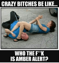 Crazy Bitches Be Like: CRAZY BITCHES BE LIKE  WHO THE F**K  IS AMBER ALERT?