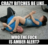 bitches be like: CRAZY BITCHES BE LIKE  WHO THE FUCK  IS AMBER ALERT