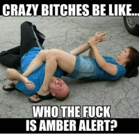 crazybitches rtfm: CRAZY BITCHES BE LIKE  WHO THE FUCK  IS AMBER ALERT? crazybitches rtfm